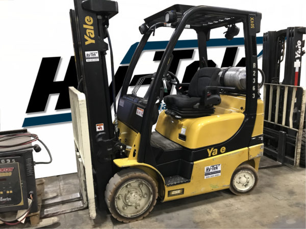 Used 2017 Yale GLC050VX Cushion Forklift LP Gas