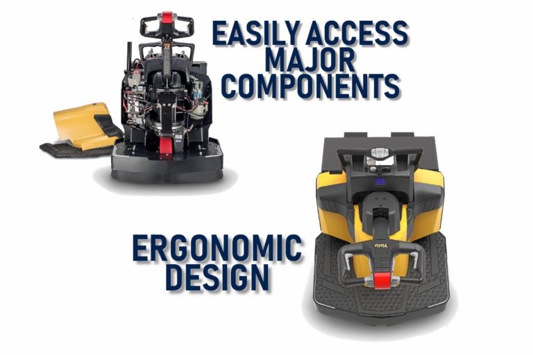 Yale MPE End Rider Pallet Jack Access Components and Ergonomics