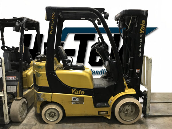 Used 2014 Yale GLC050VX class 4 ICE forklift Cushion