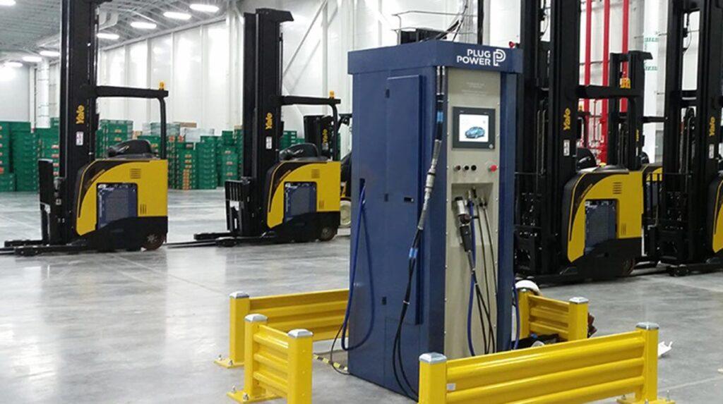 hydrogen fuel cell refuel in warehouse